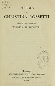 Cover of: Poems of Christina Rossetti