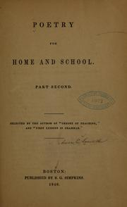 Cover of: Poetry for home and school... | Anna C. Lowell