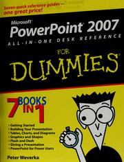 Cover of: PowerPoint 2007 all-in-one desk reference for dummies