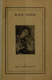 Cover of: Race pride