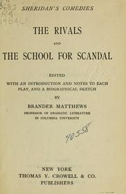 Cover of: The rivals and The school for scandal