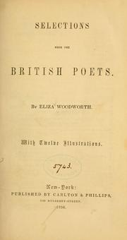 Cover of: Selections from the British poets... | Eliza Woodworth