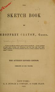 Cover of: The sketch book of Geoffrey Crayon, gentn [pseud.] ..