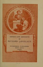 Cover of: Songs and sonnets