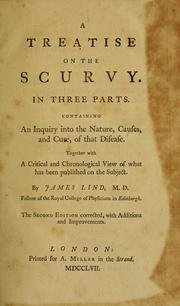 Cover of: A treatise on the scurvy | James Lind