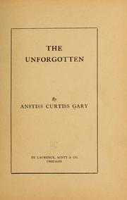 Cover of: The unforgotten