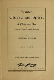 Cover of: Wanted Christmas spirit ... | Hester G. Hopkins