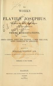 Cover of: The works of Flavius Josephus | Flavius Josephus