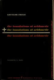 Cover of: The foundations of arithmetic