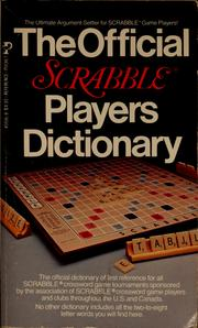 Cover of: The Official Scrabble players dictionary |