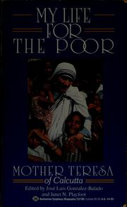 Cover of: My life for the poor