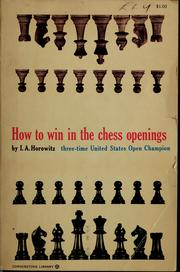 Cover of: How to win in the chess openings