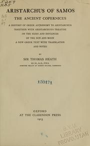 Cover of: Aristarchus of Samos, the ancient Copernicus | Heath, Thomas Little Sir