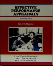 Cover of: Effective performance appraisals