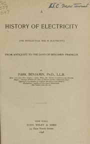 Cover of: A history of electricity