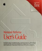 Cover of: Macintosh Performa user's guide