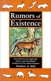 Cover of: Rumors of existence