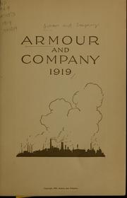 Cover of: Armour and Company, 1919