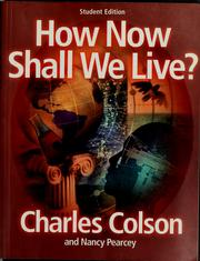 Cover of: How now shall we live?