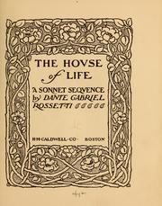 Cover of: The hovse of life, a sonnet seqvence