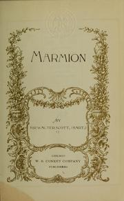 Cover of: Marmion | Sir Walter Scott
