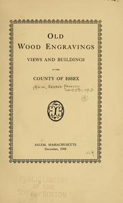 Cover of: Old wood engravings