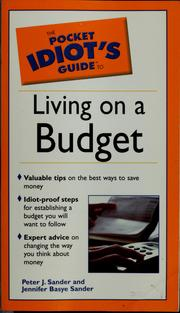 Cover of: The pocket idiot's guide to living on a budget