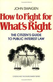 Cover of: How to Fight for What's Right
