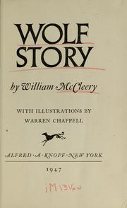 Cover of: Wolf story | William McCleery