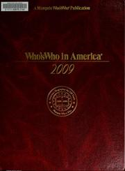 Cover of: Who's who in America, 2009 | Marquis Who's Who, Inc