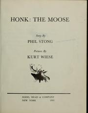Cover of: Honk, the moose