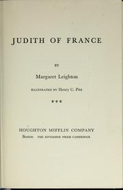 Cover of: Judith of France | Margaret Leighton