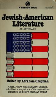 Cover of: Jewish-American literature | Abraham Chapman
