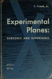 Cover of: Experimental planes | R. Frank
