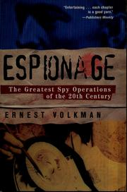 Cover of: Espionage | Ernest Volkman