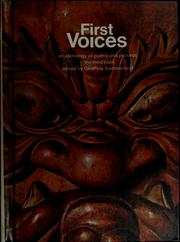 Cover of: First voices | Geoffrey Summerfield