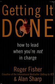 Cover of: Getting it done | Roger Drummer Fisher