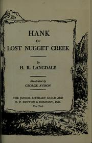 Cover of: Hank of Lost Nugget Creek | Hazel Louise Raybold Langdale