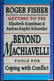 Cover of: Beyond Machiavelli