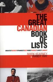 Cover of: The great Canadian book of lists
