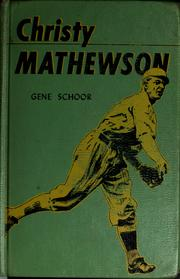 Cover of: Christy Mathewson