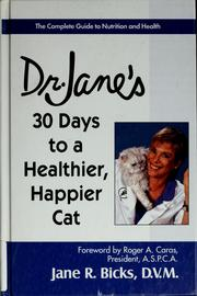 Dr. Janes 30 days to a healthier, happier cat