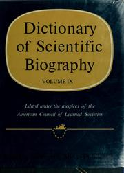 Cover of: Dictionary of scientific biography | Charles Coulston Gillispie