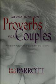 Cover of: Meditations on Proverbs for couples | Les Parrott