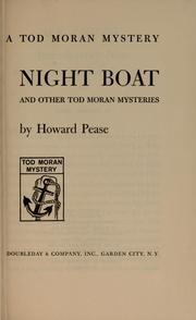 Cover of: Night boat and other Tod Moran mysteries