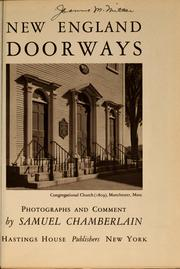 Cover of: New England doorways