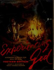 Cover of: Experiencing God | Henry T. Blackaby
