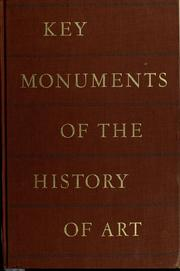 Cover of: Key monuments of the history of art