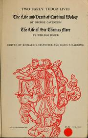Cover of: Two early Tudor lives | Richard S. Sylvester