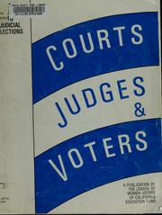 Cover of: Courts, judges and voters | Jean Askham